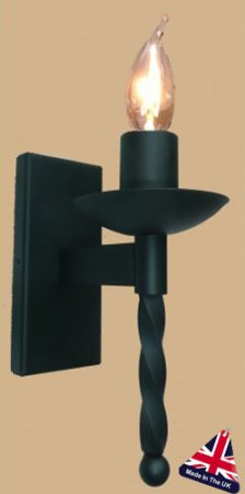 Tintagel Gothic Wrought Iron Single Wall Light UK Made
