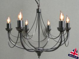 Tuscany Wrought Iron 6 Light Chandelier UK Made