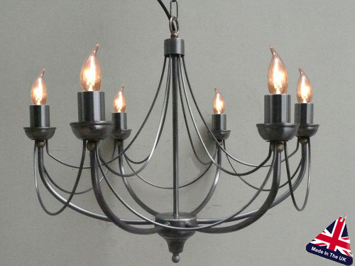 Tuscany Wrought Iron 6 Light Chandelier UK Made