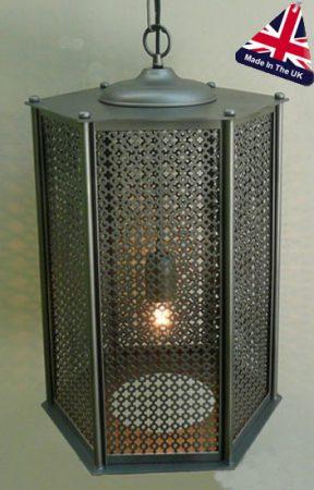 Medina Moroccan Wrought Iron Fretwork Lantern UK Made