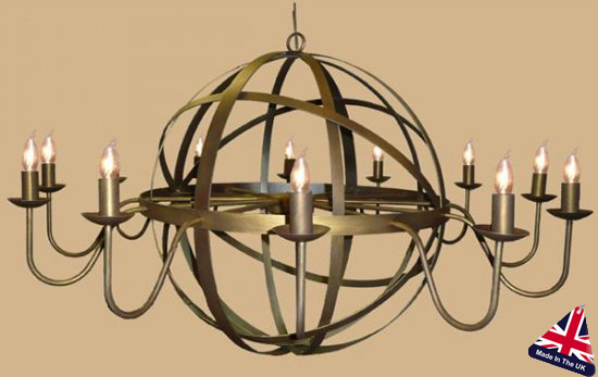 Archimedes very large 12 light wrought iron orb chandelier 810 12 archimedes very large 12 light wrought iron orb chandelier aloadofball Gallery