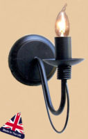 Camelot Italian Style Wrought Iron Single Wall Light UK Made