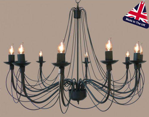 Camelot Italian Style Wrought Iron 12 Light Chandelier