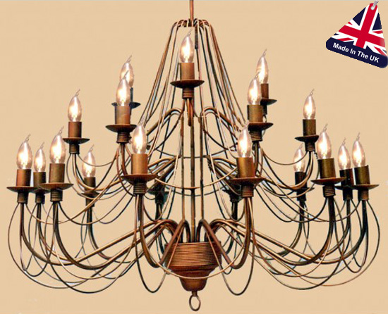 Camelot Italian Style Wrought Iron 21 Light Large Chandelier