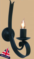 Tower Italian Style Gothic Wrought Iron Wall Light UK Made