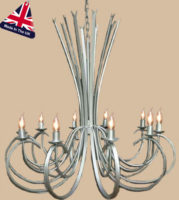 Tower Large Italian Style Wrought Iron 10 Light Chandelier UK Made