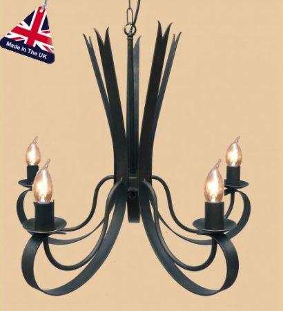 Tower Italian Style Wrought Iron 5 Light Chandelier UK Made