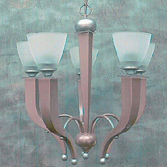 Atlas 5 Light Art Deco Style Chandelier UK Made