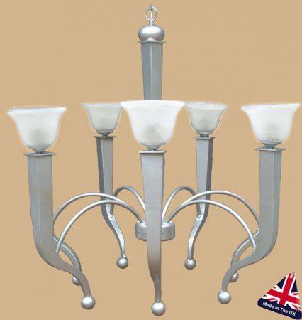 Atlas 7 Light Art Deco Style Chandelier UK Made