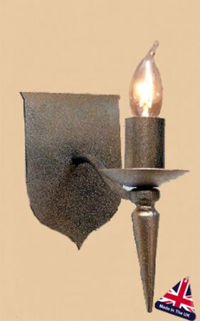 Lancelot Single Wrought Iron Wall Light UK Made