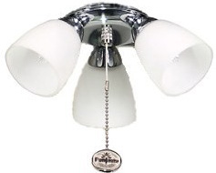Fantasia Amalfi 3 Light Fan Light Kit Stainless Steel