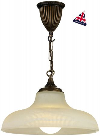 David Hunt Badger Opal Glass School House Pendant Light Bronze