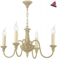 David Hunt Bailey Traditional 4 Light Antique Cream Chandelier