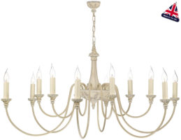 David Hunt Bailey Traditional 12 Light Antique Cream Chandelier