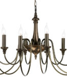 David Hunt Bailey Large Traditional 12 Light Bronze Chandelier