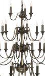 David Hunt Bailey Very Large 33 Light Tiered Bronze Chandelier