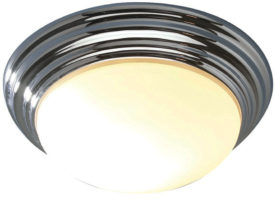 Dar Barclay Large Flush Bathroom Ceiling Light Chrome