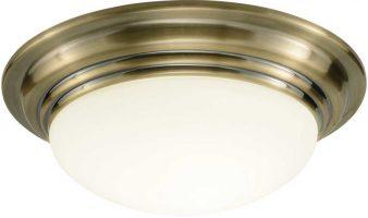 Dar Barclay Small Flush Bathroom Ceiling Light Brass
