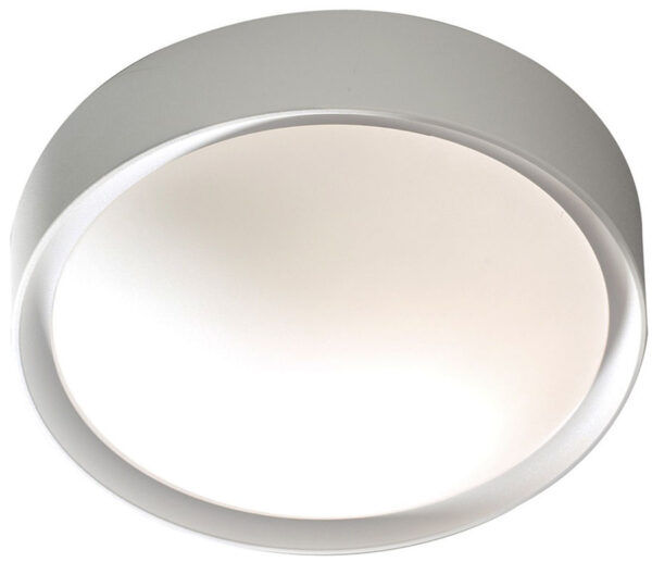 Dar Beta Modern 1 Lamp Bathroom Ceiling Light Silver BET52
