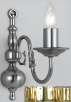 Flemish Style Solid Polished Brass Traditional 1 Lamp Wall Light