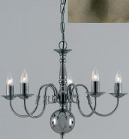 Flemish Solid Brass 5 Light Chandelier Antique Finish