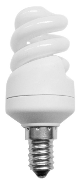 Mini Spiral 7w SES Warm White Flourescent Light Bulb