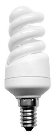 Mini Spiral 9w SES Warm White Flourescent Light Bulb