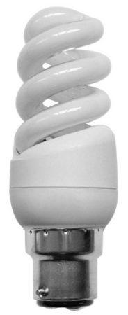 Mini Spiral 9w BC Warm White Flourescent Light Bulb
