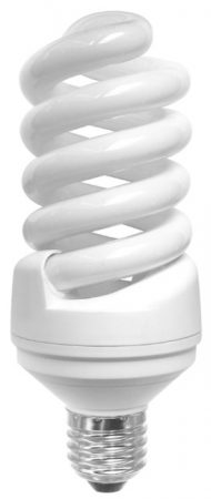 Mini Spiral 9w ES Warm White Flourescent Light Bulb