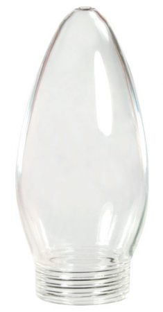 Halogen Adaptor Clear 35mm Candle Lamp Cover