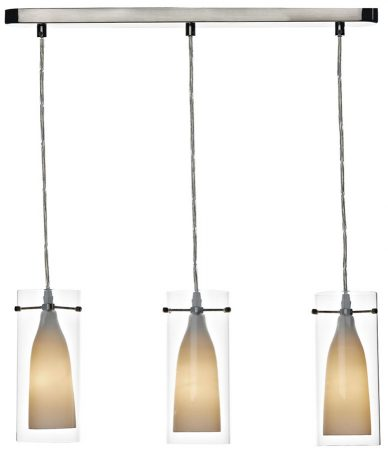 Dar Boda Modern 3 Light Kitchen Pendant Bar Chrome