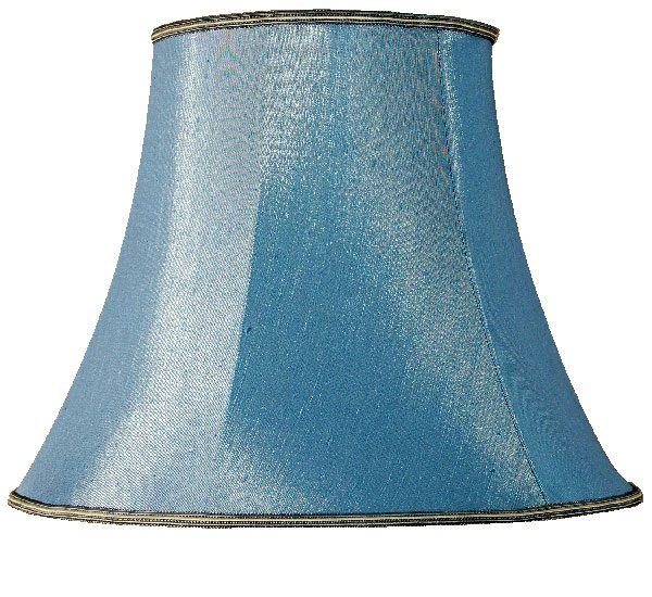 Blue Bowed Empire 8 inch Blue Small Table Lamp Shade
