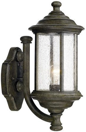 Dar Brompton Traditional Outdoor Wall Light Old Iron Finish