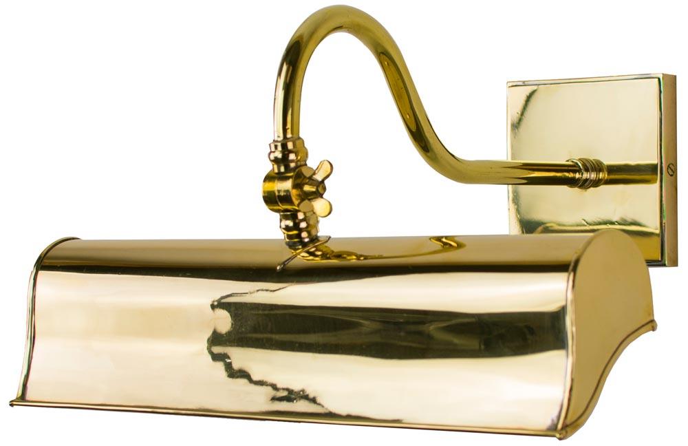 Handmade Brass Wall Lights : Blenheim Handmade Solid Brass 315mm Trough Picture Light BT13