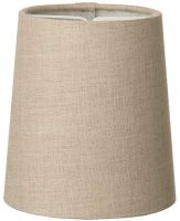 Byron Tall Natural Linen Clip On Candle Lamp Shade