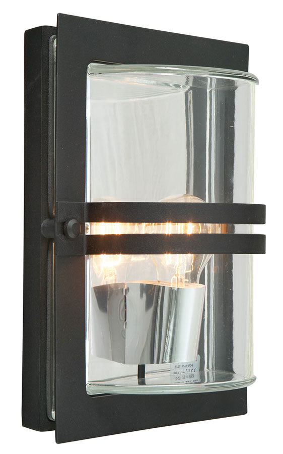 Norlys Basel Outdoor Wall Light Black Finish Art Deco Style IP54