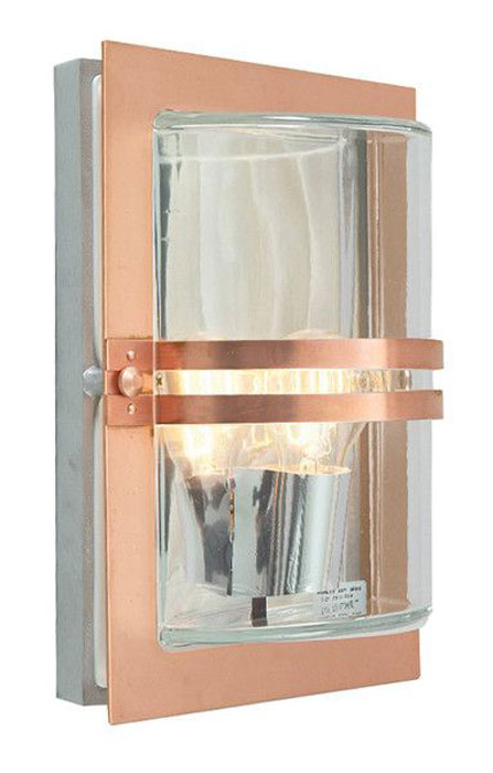 Norlys Basel Outdoor Wall Light Copper Finish Art Deco Style IP54