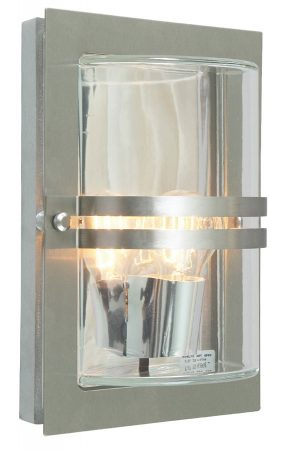 Norlys Basel Outdoor Wall Light Stainless Steel Art Deco Style IP54