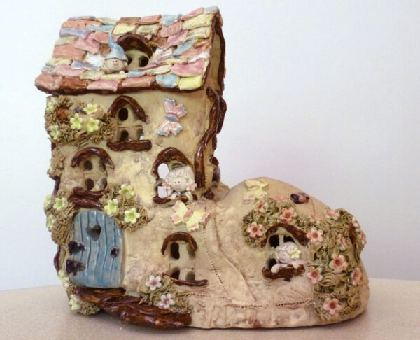 Old Woman Who Lived In A Shoe Exclusive Handmade Child's Night Light