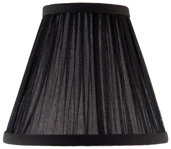 Kemp Pleated Black Faux Silk 6 Inch Chandelier Lamp Shade