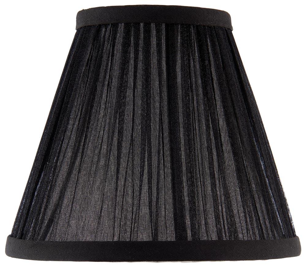 Kemp Pleated Black Faux Silk 6 Inch Chandelier Lamp Shade Ca1bshn