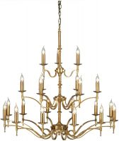 Stanford Large 3 Tier 21 Light Chandelier Antique Brass