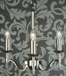 Stanford Traditional 3 Light Chandelier Polished Nickel