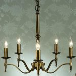 Stanford Traditional 5 Light Chandelier Antique Brass