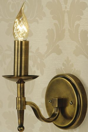 Stanford Traditional Single Wall Light Antique Brass