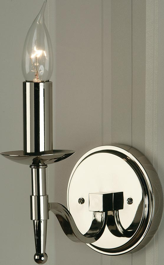 Stanford Traditional Single Wall Light Polished Nickel