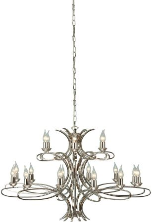 Penn Contemporary 18 Light Large Polished Nickel Chandelier