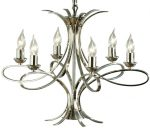 Penn Contemporary 6 Light Polished Nickel Chandelier
