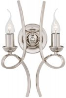 Penn Contemporary 2 Light Polished Nickel Wall Light
