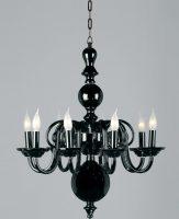 Salas Luxury 8 Light Black Czech Crystal Chandelier